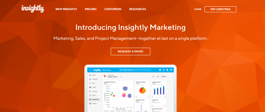 Insightly integrates CRM